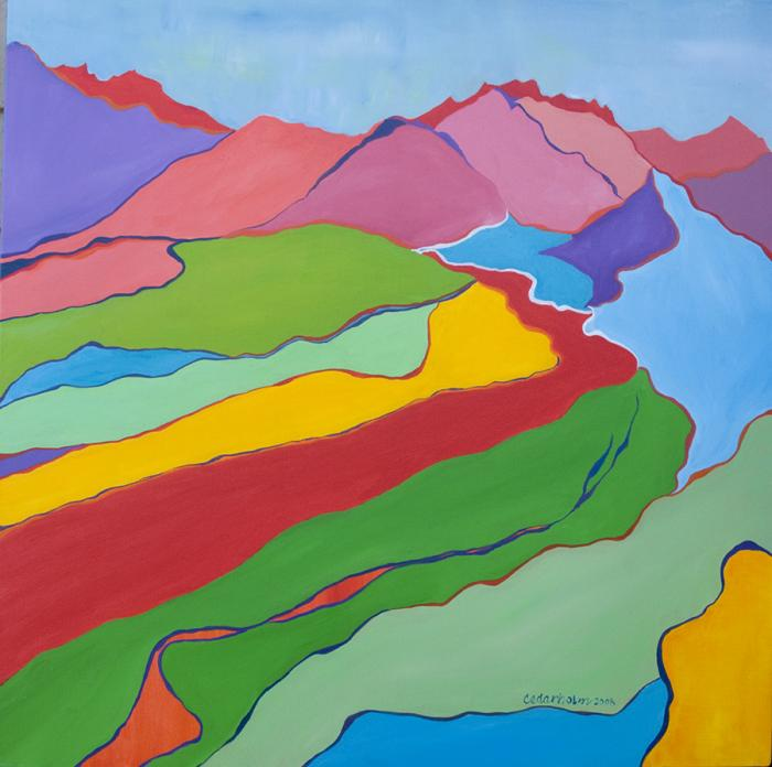 Polychrome Pass by Susan E Cedarholm